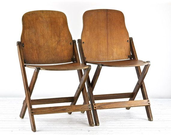 Vintage Folding Chairs Vintage Church Chairs Old Folding