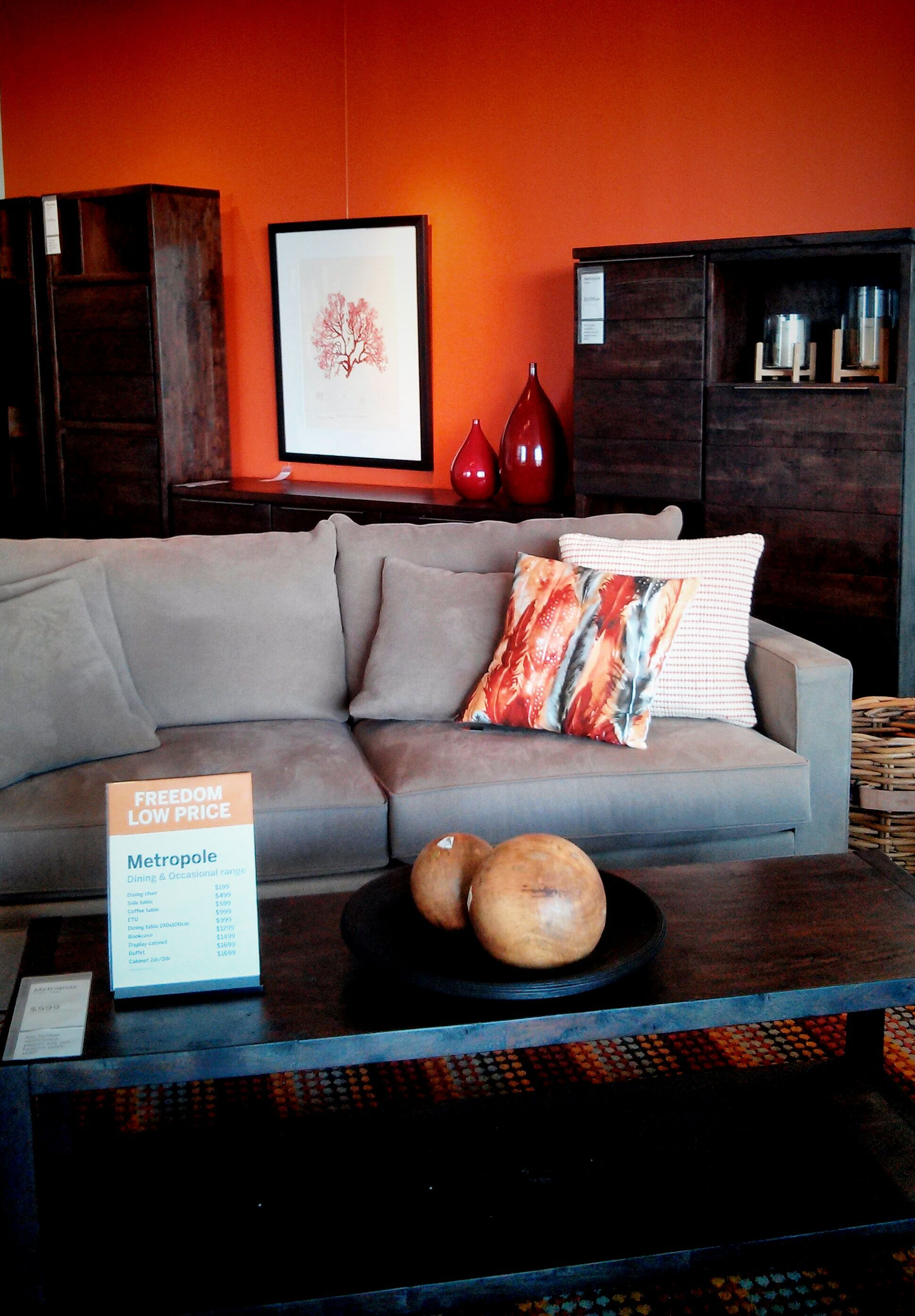 Grey And Orange Living Room Accessories