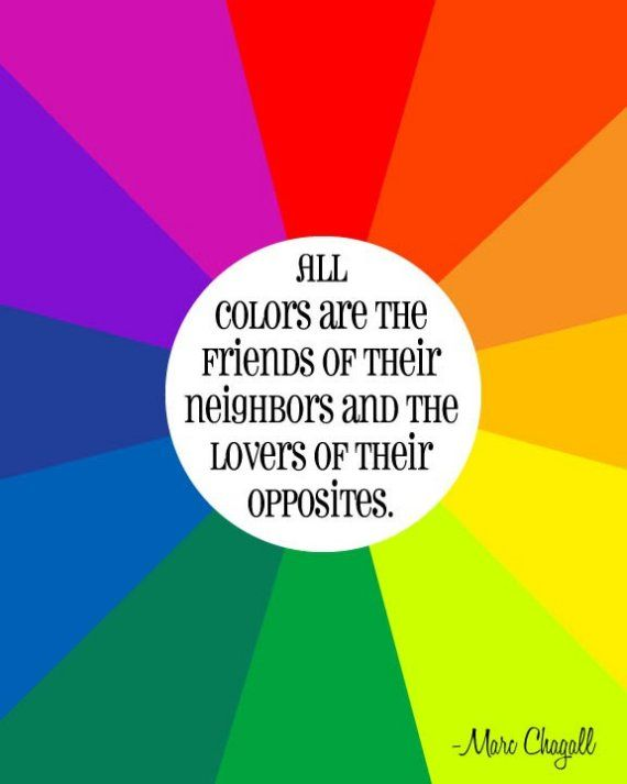 Color Wheel Quote By Chagall Colors Are Friends Of Their