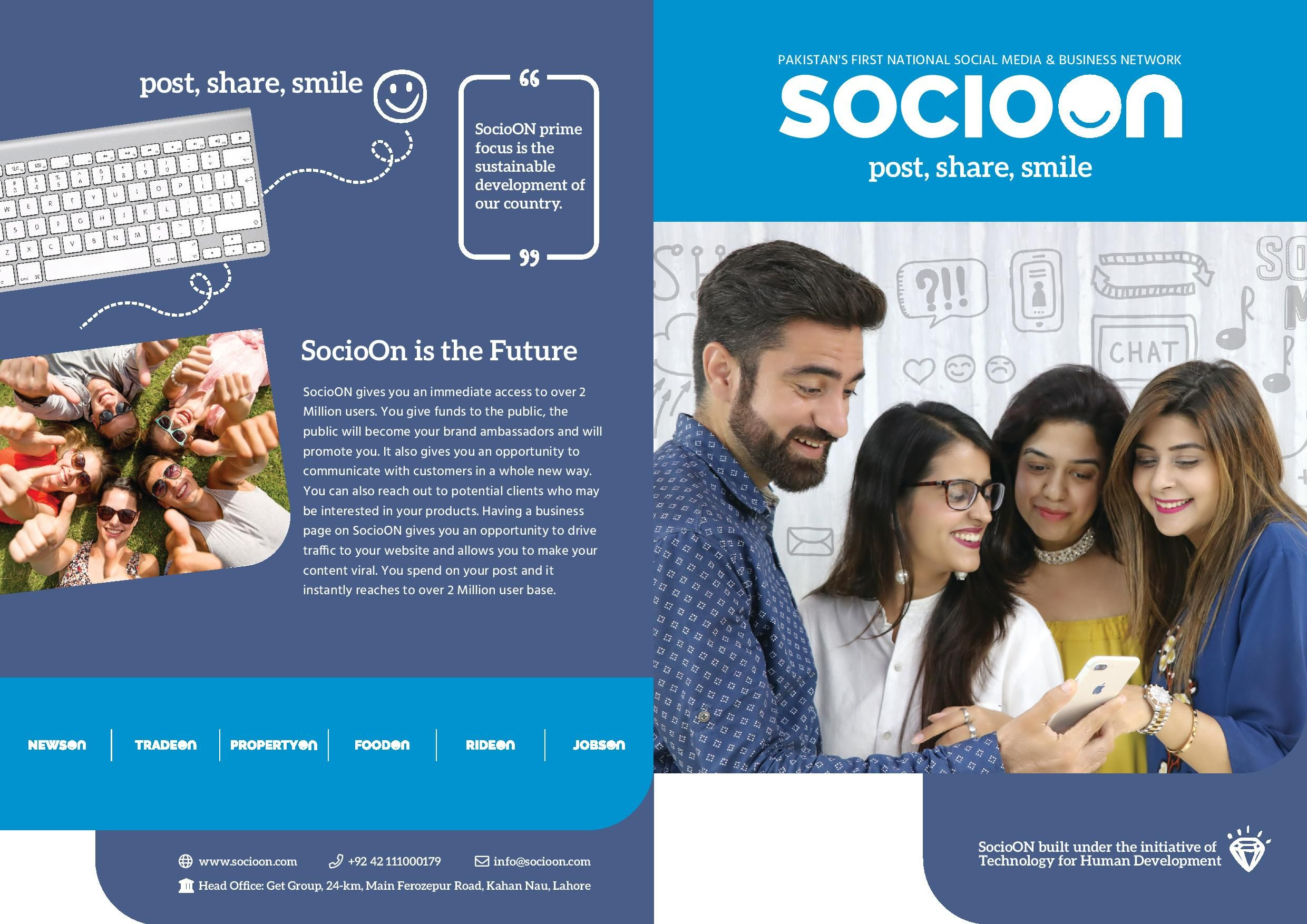 socioon is standing now as a Pakistan first social media
