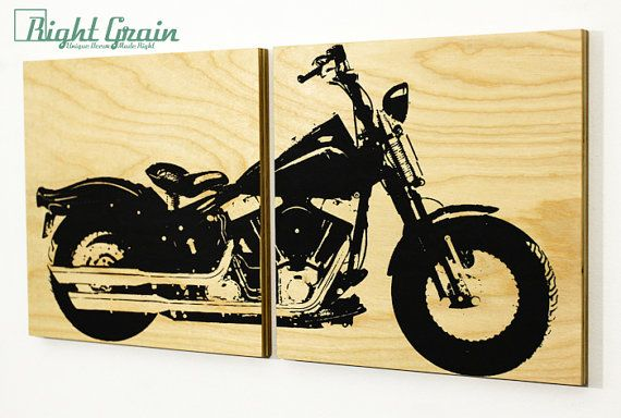 Harley Davidson Springer Motorcycle Wall Art Harley by RightGrain ...