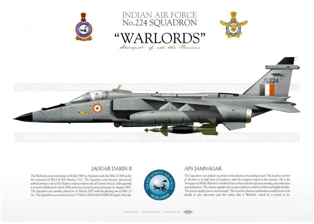 Jaguar Darin Ii No 224 Squadron Indian Air Force Jamnagar Operating Since 2008 Fighter Planes Indian Air Force Fighter Jets