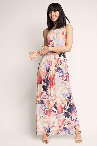 227a9925 Esprit / Delicate chiffon maxi dress with an XL print | HOT SUMMER ...