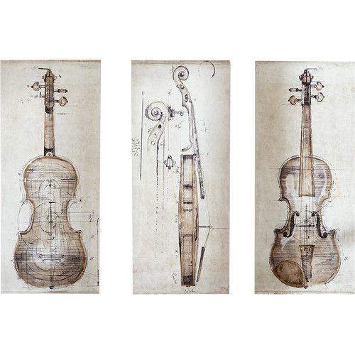 Found it at Joss & Main - Violin Study Canvas Print