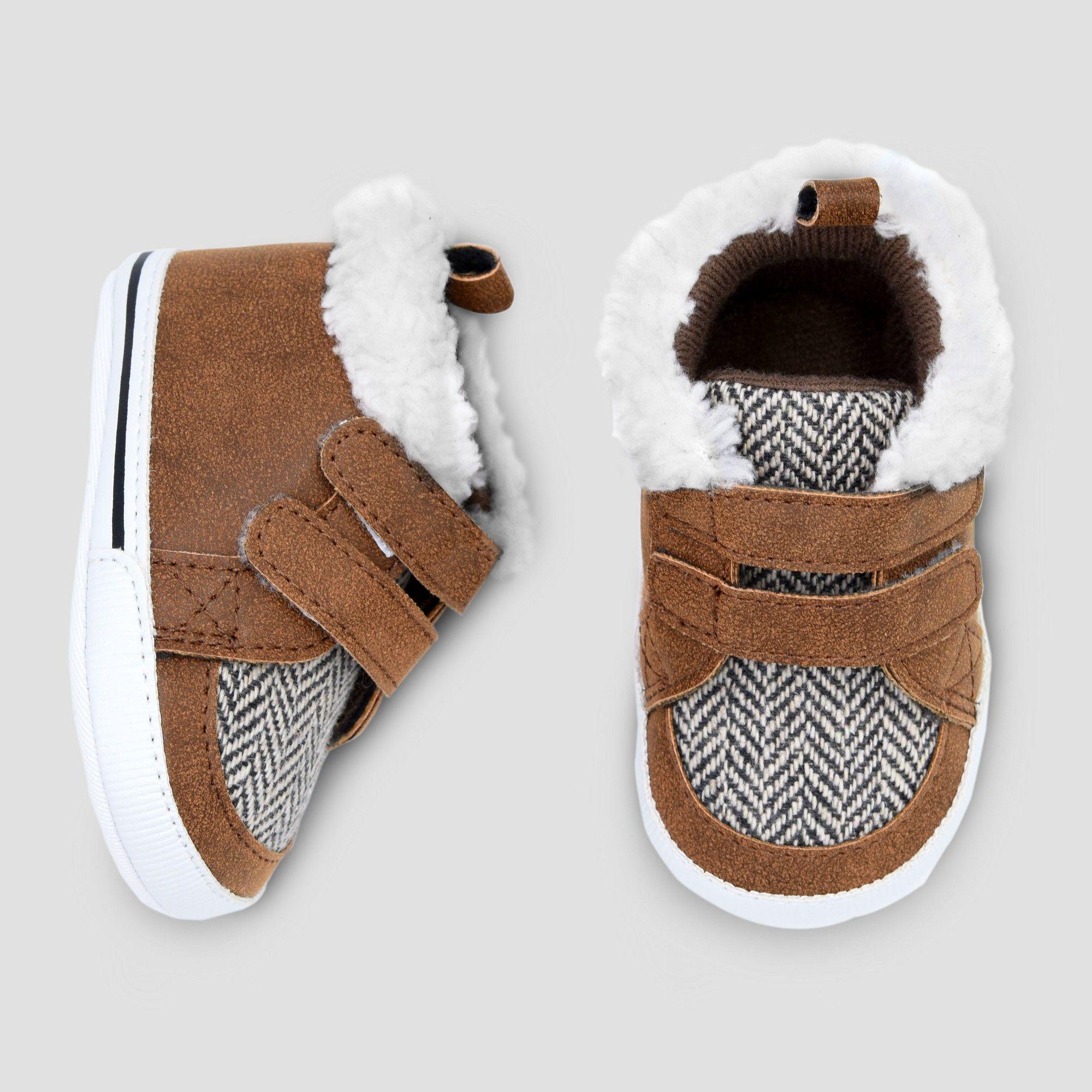 Baby Boys' High Top Hiker Crib Shoes
