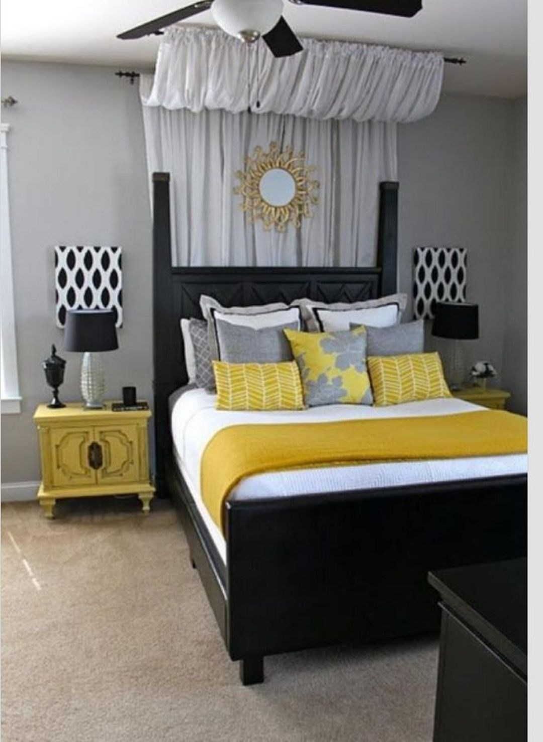 Sunflower Bedroom Decoration Ideas 017 Home Bedroom Elegant