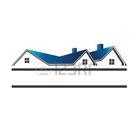 Houses Roofs For Real Estate Illustration House Roof Selling Real Estate Real Estate