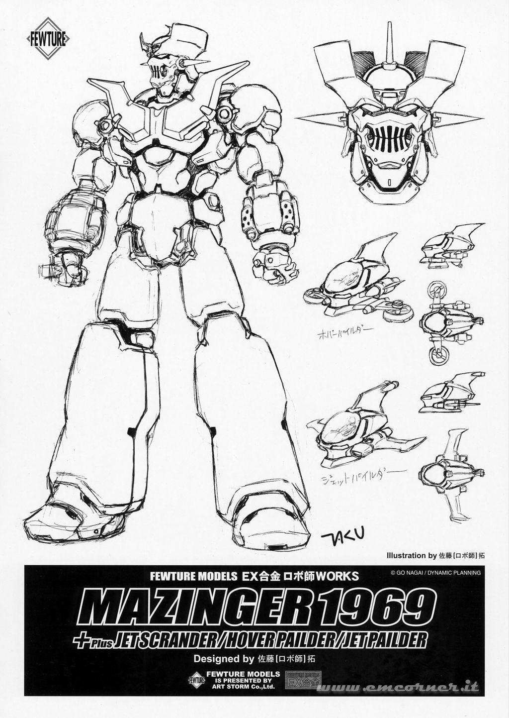 Mazinger z coloring pages -  Fewture Ex Gokin Mazinger Z 1969 By Taku Sato