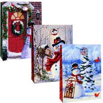 Voila Extra-Large Snowman Gift Bags