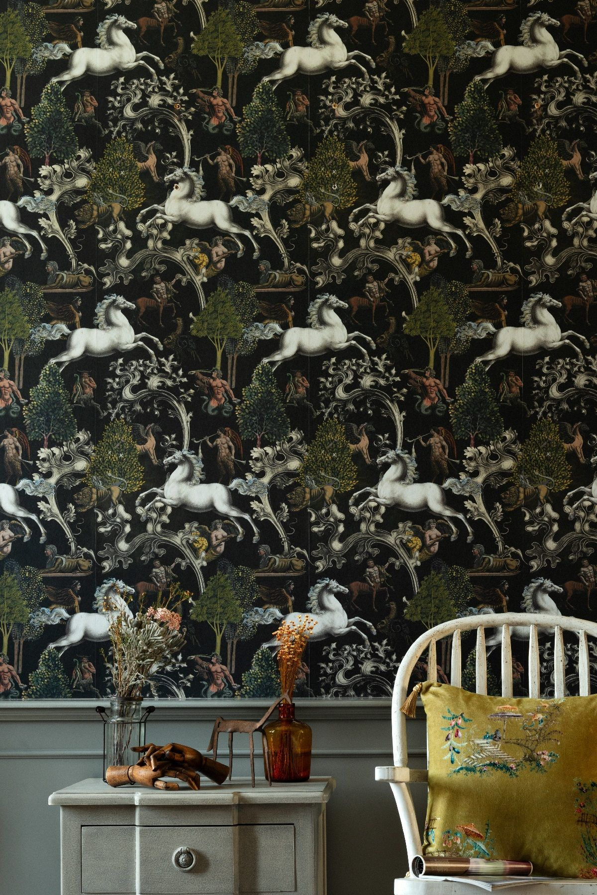 Imaginarium Wallpaper in 2020 Grey wallpaper, Wallpaper