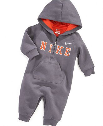 Nike Baby Boy Clothes New Nike Baby Coverall Baby Boys Fleece Coverall  Kids  Macy's  Baby Inspiration