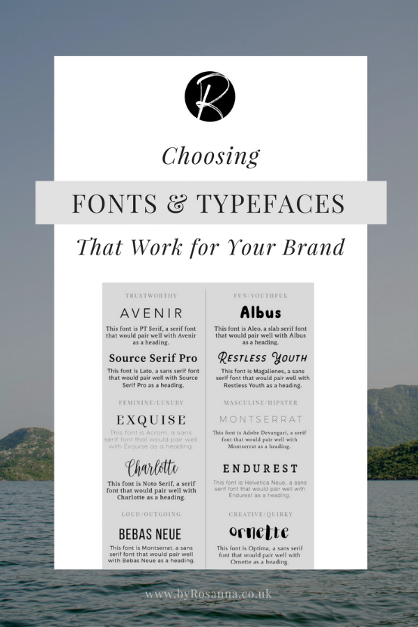 Choosing Fonts Typefaces That Work For Your Brand Uxd Stuff