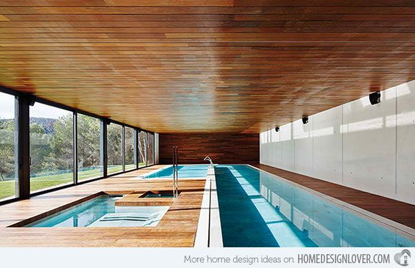 15 Modern Swimming Pool Rooms | Pools I want to Swim In ...