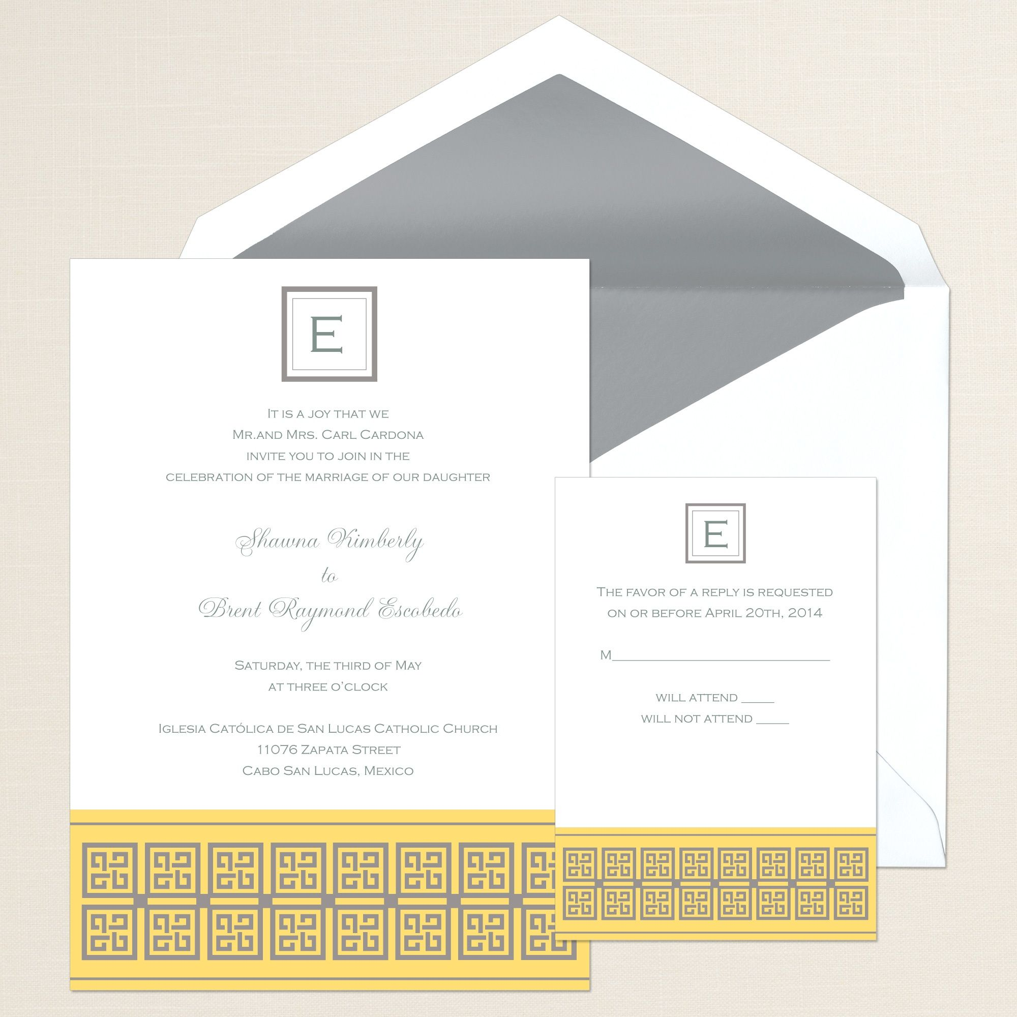 Disney Weddings Greek Style Wedding Invitation