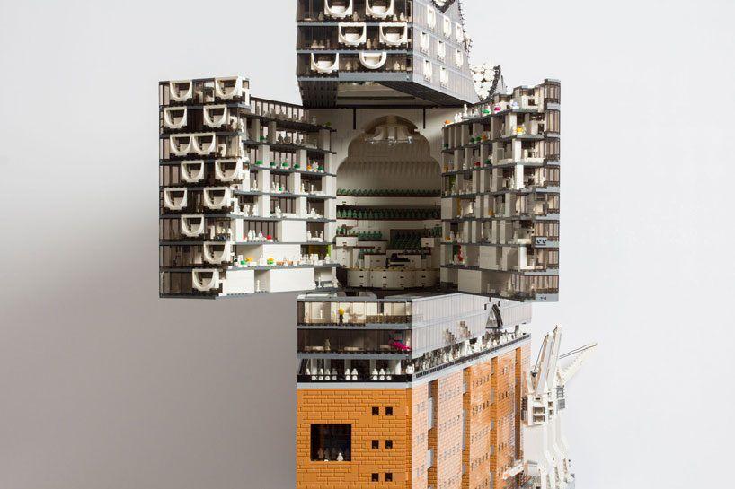Brickmonkey Recreates The Elbphilharmonie Hamburg Concert Hall Using 20 000 Lego Pieces Lego Replica Lego Elbphilharmonie Hamburg