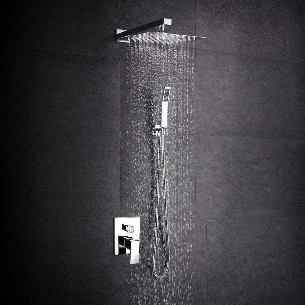 sr sun rise srsh f5043 bathroom luxury rain mixer shower combo set wall mounted rainfall - Luxury Rain Showers