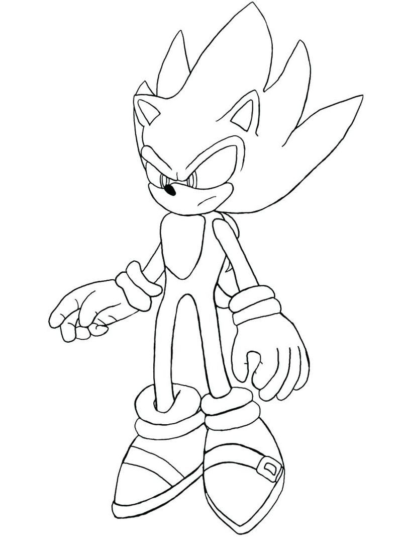 Super Sonic Coloring Pages : super, sonic, coloring, pages, Sonic, Hedgehog, Coloring, Pages, Download), Sheets, Unicorn, Pages,, Books