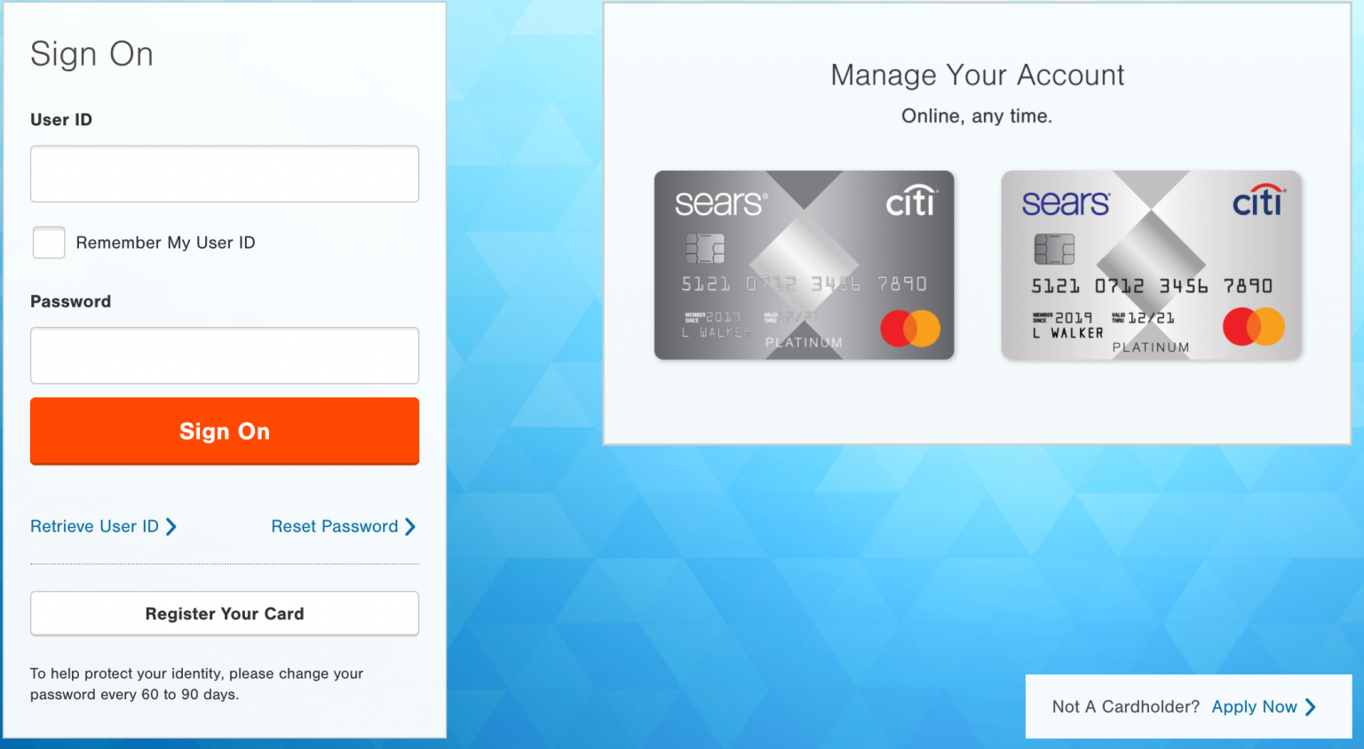 Sears Credit Card Login for Payment – Customer Service Phone