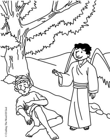 Elijah Fed By God Coloring Page Sunday School Kids Sunday