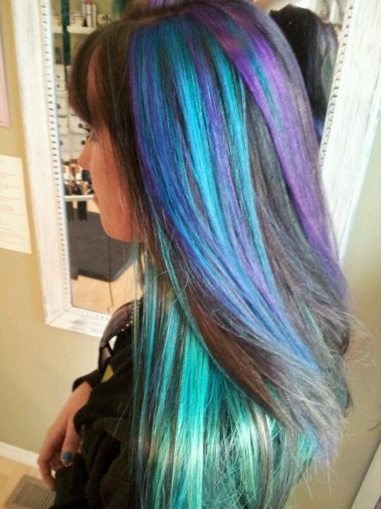 Goldwell Elumen Tq All Amp Vv All Hair Is Turquoise And