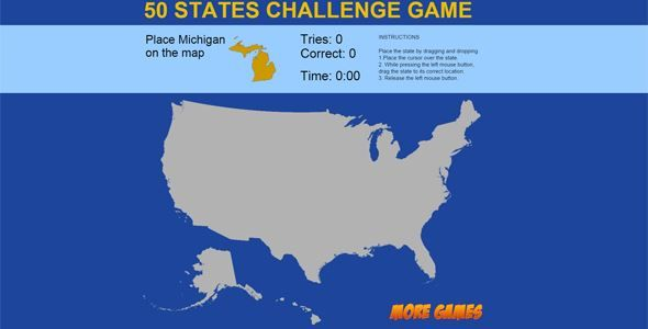 ThemeForest - United States Map game - 50 States Challenge ...