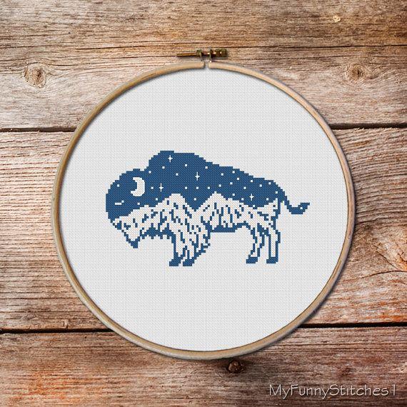 Cross Stitch Pattern, Buffalo Cross Stitch pattern, keeper of the ...