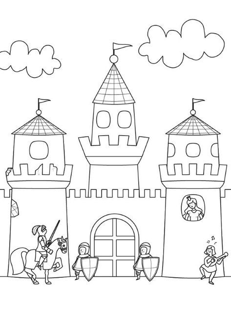Pin By Kaan On M Castle Coloring Page Coloring Pages Kids Castle