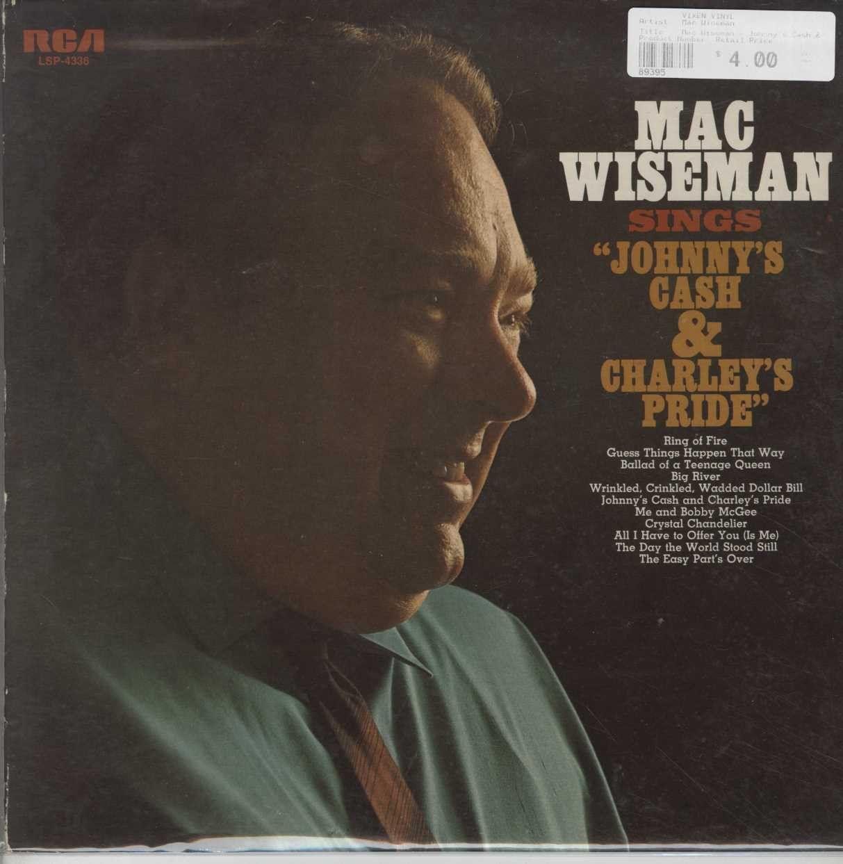 Mac Wiseman - Johnny\'s Cash & Charley\'s Pride | Charley pride ...