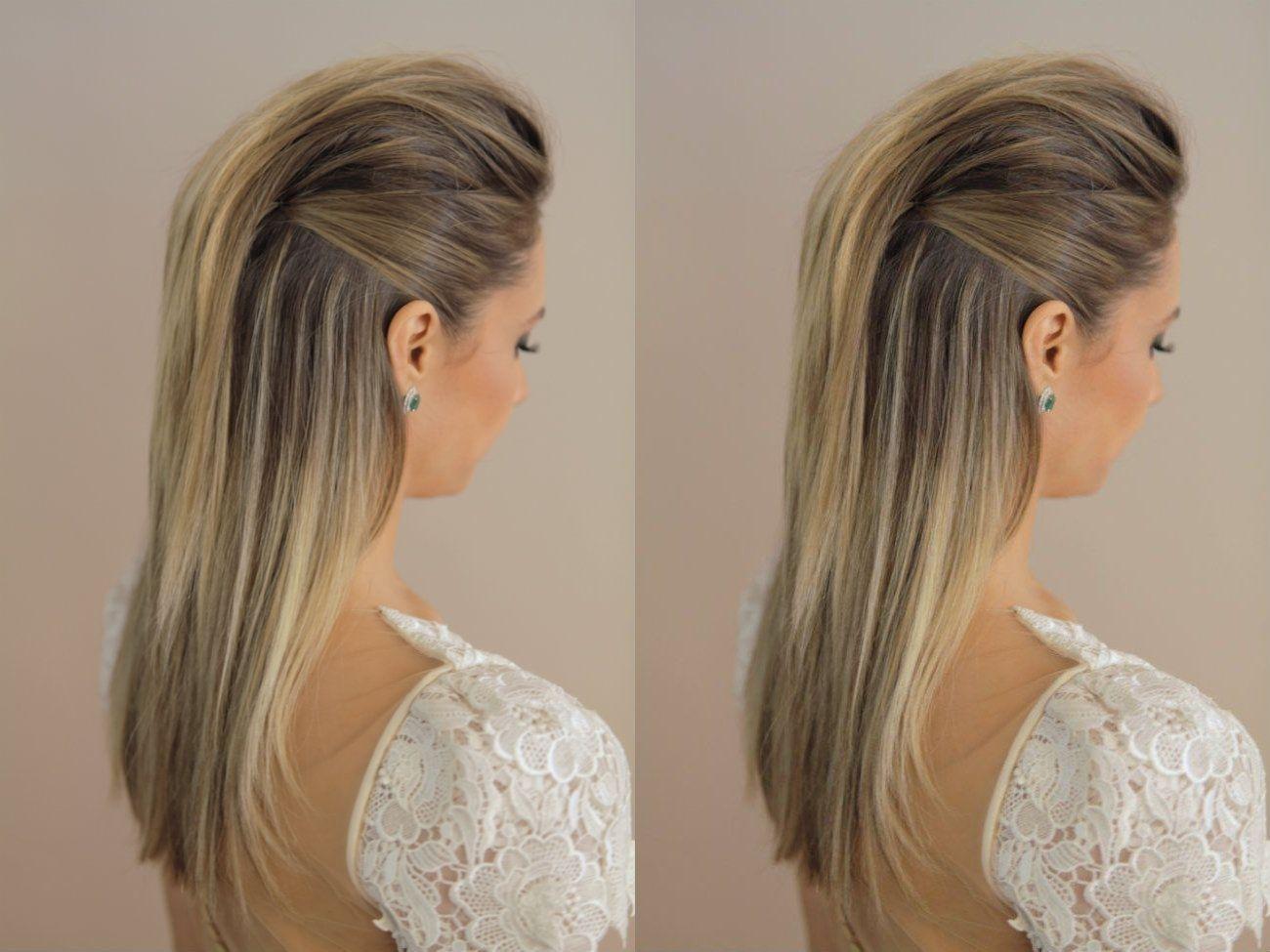 1 Moicanopenteadocabeloliso Hair Em 2019 Penteados