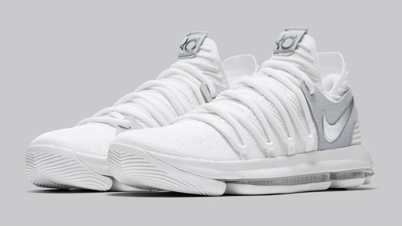 classic fit 9afe2 806e7 Kevin Durant s Nike KD 10 releases in white in early June.