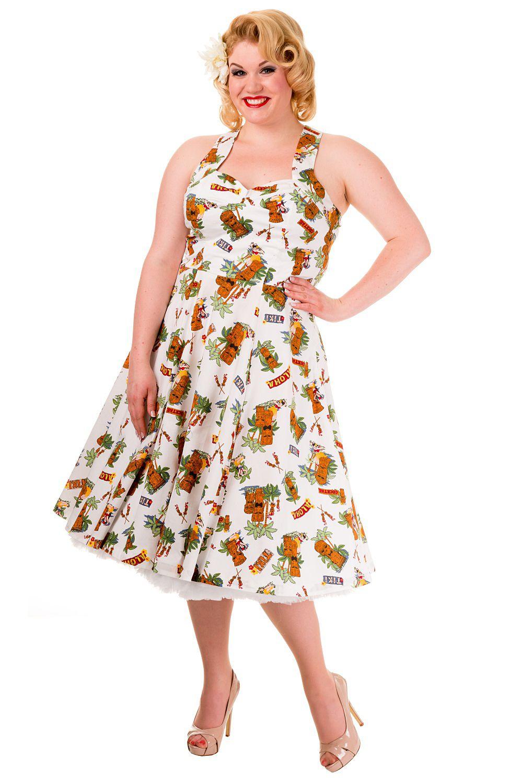 6496fa8853d Vintage Tiki Dreamer Plus Size Banned Dress