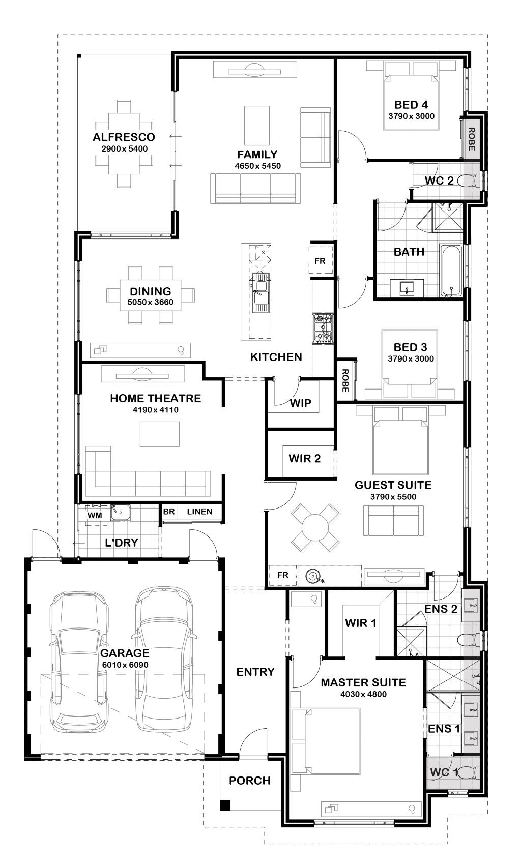 Harmony Gemmill Homes New House Plans House Floor Plans 4 Bedroom House Plans