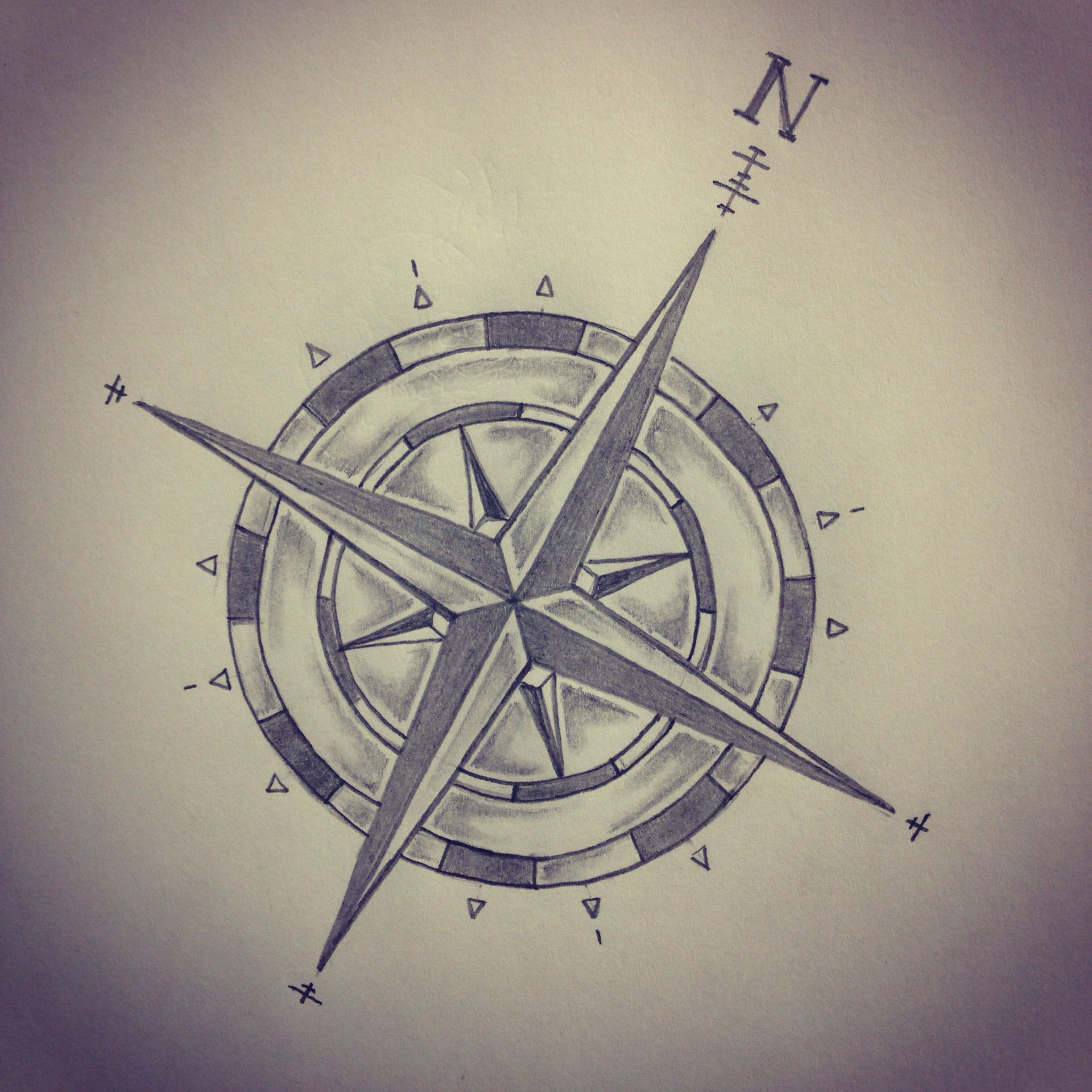 Compass tattoo sketch by - Ranz