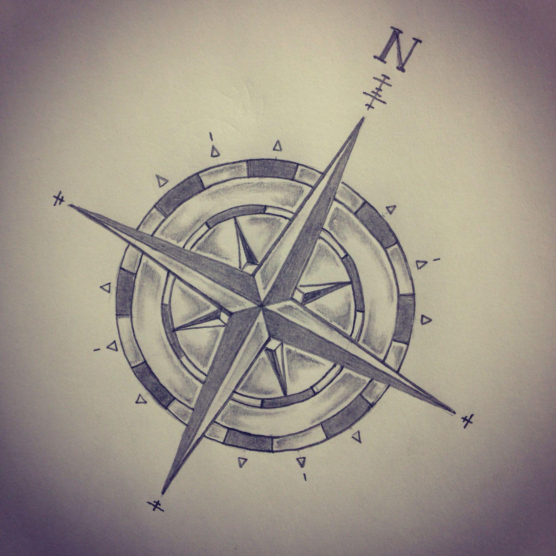Compass Tattoo Sketch By - Ranz