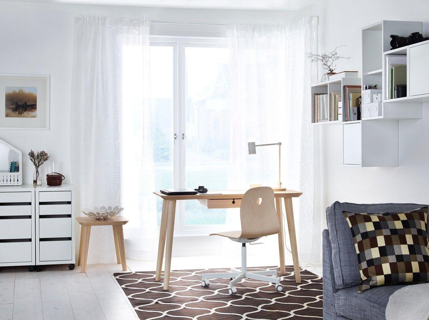 Arbeitsplatz In Wohnzimmer Integrieren In 2020 Arbeitszimmer Zuhause Hausburo Schreibtische Wohnzimmer Schreibtisch