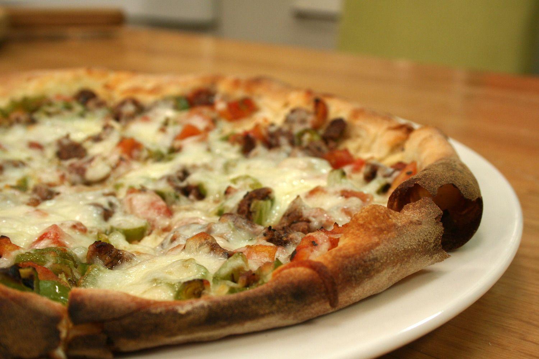 kuşbaşılı pizza
