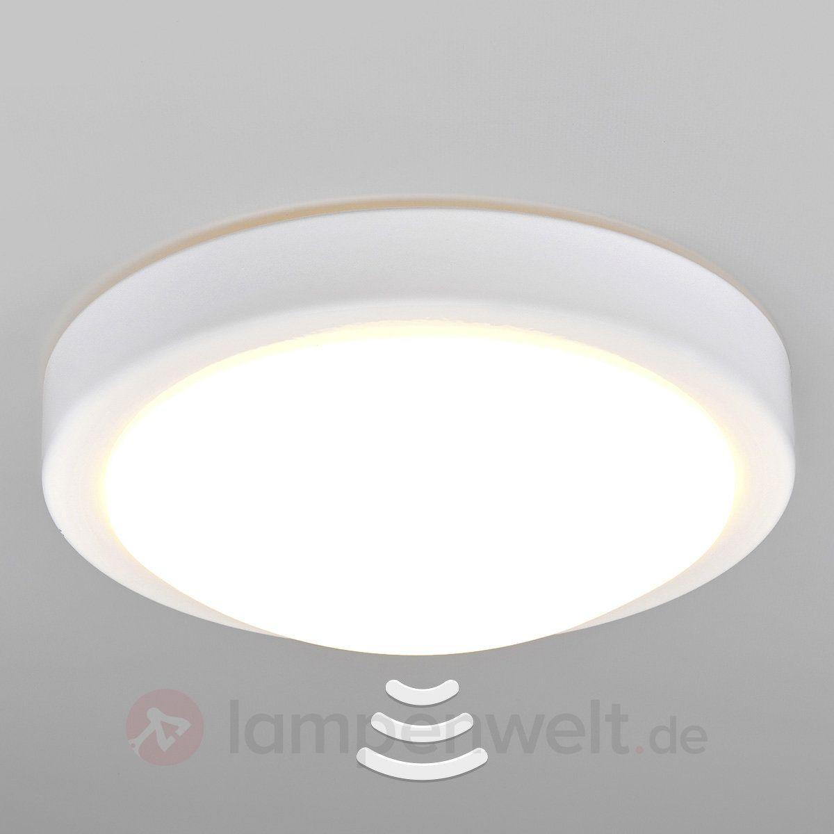 Badezimmer-LED-Deckenlampe Aras mit Sensor, weiß kaufen ...