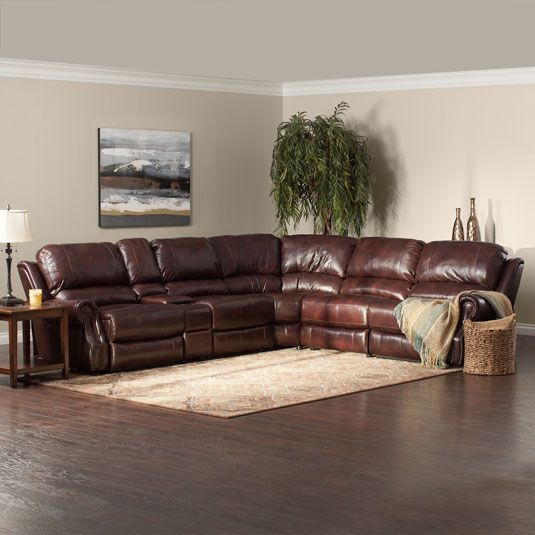 Triton Leather Sectional Leather Recliner Living Room Living