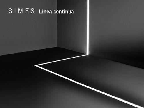 Luce da incasso a pavimento led lineare da esterno linea