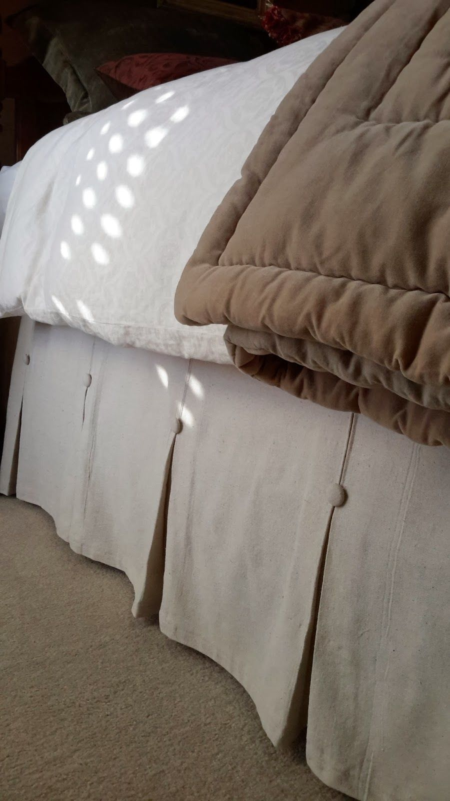 bedroom diy dropcloth cotton bedskirt like pottery barn s pleats