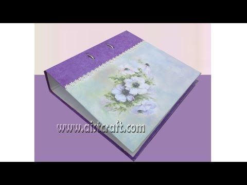 Decoupage Tutorial For Beginners Diy How To Decorate File Folder