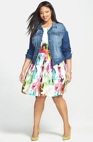 e36a9496a3 Plus Size Dress - Fit   Flare Dress (Plus Size)