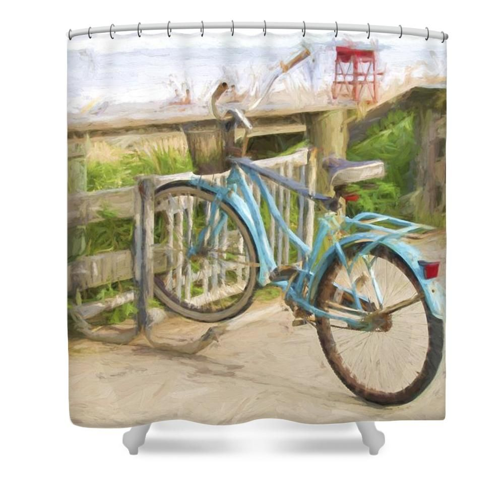 Blue Bike Shower Curtain For Sale By Alice Gipson Blue Bikes
