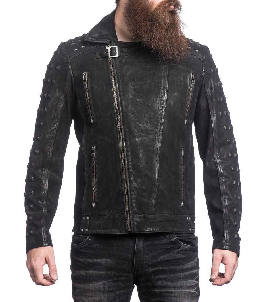 Into The Wildlife Autographed Leather Jacket (Men's