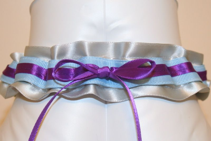 Blue And Purple Wedding Colors Schemes Custom Garter With Silver