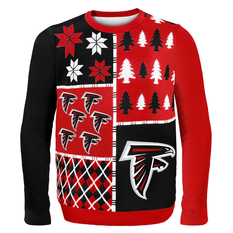 NFL Busy Block Ugly Sweater – Atlanta Falcons
