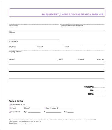 personal sales receipt template free sales receipt template for