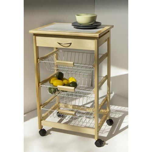 Organize It All Kitchen Cart With Three Baskets 34123w