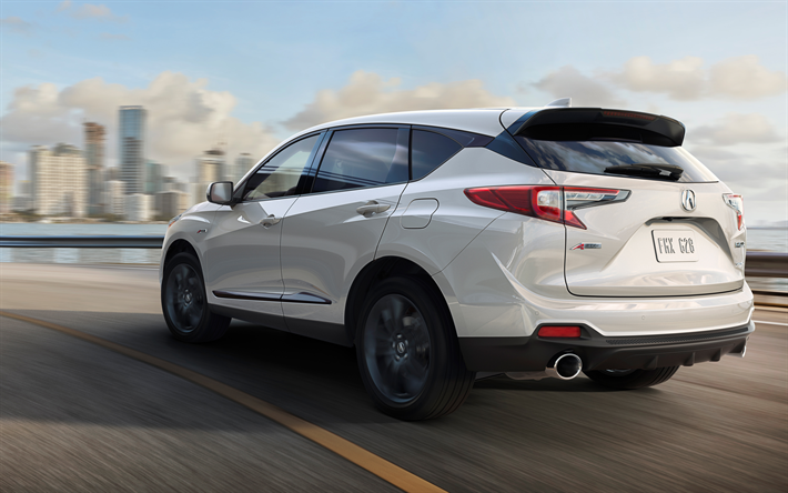 Download Wallpapers Acura Rdx 2019 4k Rear View Exterior New White Rdx Japanese Cars New Luxury Crossover Acura Besthqwallpapers Com Acura Rdx Acura Crossover Acura Suv