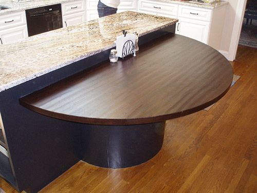 Premium Wide Plank Wood Countertops Circle Dining Table